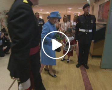 Menina Entrega Flores a Rainha Isabel II e é Acidentalmente Atingida Por Soldado 4