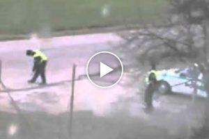Polícias Fazem Da Placa STOP Raquetes De Ping Ball 10