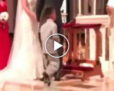 Menino Tem a Melhor Reação De Sempre Ao Ver Padre a Levantar a Mão Durante Casamento 6
