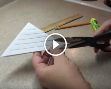 Ela Faz 5 Cortes Num Papel Triangular e o Resultado é Simplesmente Incrível! 4