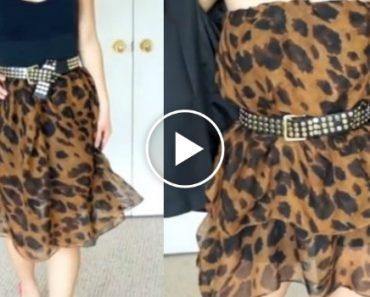 Aprenda a Transformar Um Lenço Em Diferentes Modelos De Saias e Vestidos 2