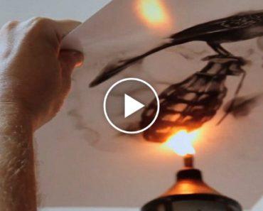 Artista Usa FOGO Para Criar Impressionantes e Detalhados Quadros 3