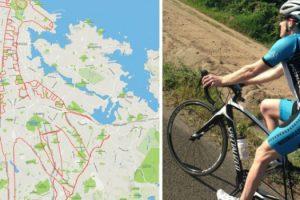 Homem Anda De Bicicleta Pela Cidade e Cria Inacreditáveis Desenhos Com Rotas De GPS 9