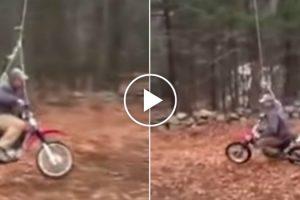 Homem Inventa Baloiço Perfeito Para Motociclistas 10