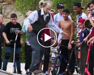 Skater Profissional Disfarça-se De Idoso e Deixa Jovens De Boca Aberta 1