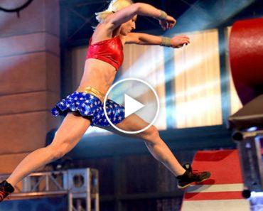 Esta Foi a 1ª Mulher a Vencer o Mais Difícil Concurso De Obstáculos, American Ninja Warrior 17