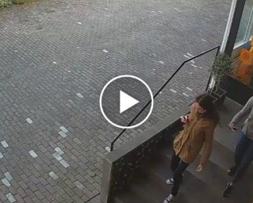 Imagens De Vigilância Mostram o Momento Intenso Em Que Jovens Fogem Apavoradas Por Causa De Cão 4