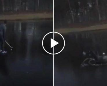 Esta Tacada De Golfe Num Lago Gelado Tinha Tudo Para Correr Mal 3