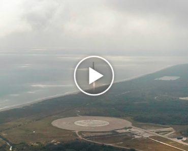 A Aterragem Perfeita Do Foguetão Falcon 9 Da Space X 1