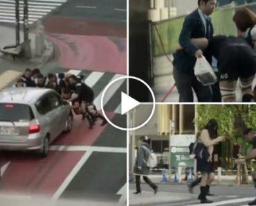 All Blacks Mostram a Sua Violência Ao Derrubar Japoneses Na Rua, Mas Por Uma Boa Causa 7
