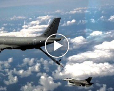 Caça F-16 Português Em Experiência Pioneira Ao Testar Reabastecimento Automático Aéreo a Airbus 2