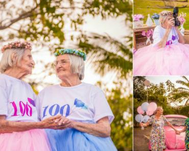 Irmãs Gémeas Celebram o 100ª Aniversário Com Um Adorável Ensaio Fotográfico 2
