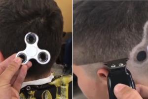 Adolescente Gosta Tando Do Fidget Spinner Que Pediu Ao Barbeiro Para Lhe Fazer Um Na Cabeça 6