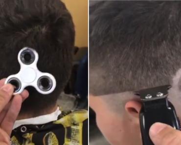 Adolescente Gosta Tando Do Fidget Spinner Que Pediu Ao Barbeiro Para Lhe Fazer Um Na Cabeça 8