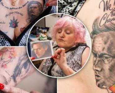 Mulher De 59 Anos Fanática Por José Mourinho Tem 20 Tatuagens Do Treinador Português 5