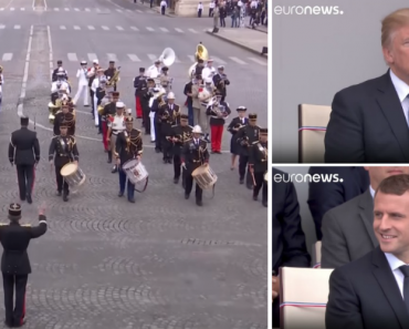 """Trump e Macron São Surpreendidos Com Desfile Militar Ao Som De """"Get Lucky"""" Dos Daft Punk 7"""