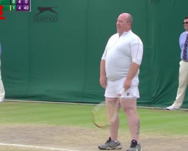 Kim Clijsters Dá Saia e Raquete De Ténis a Adepto Para que Possa Jogar Com Elas Durante Evento Em Wimbledon 4