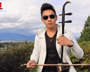 Jovem Faz Fantástica Versão Combinando Tradicional Instrumento Chinês Com Despacito 9