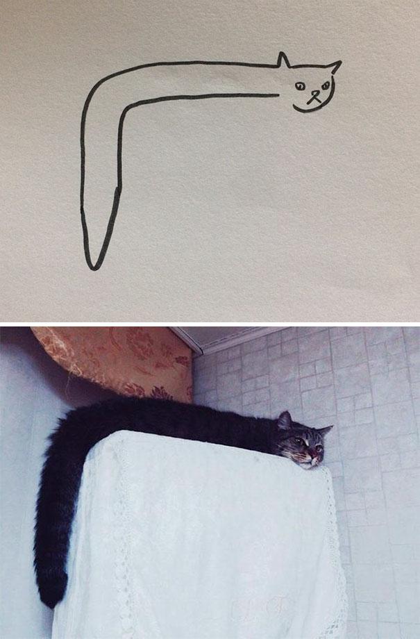 Desenhos De Gatos Que Não Acreditaria Que Existiam Se Não Houvessem Fotos 1