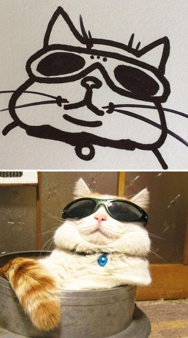 Desenhos De Gatos Que Não Acreditaria Que Existiam Se Não Houvessem Fotos 15