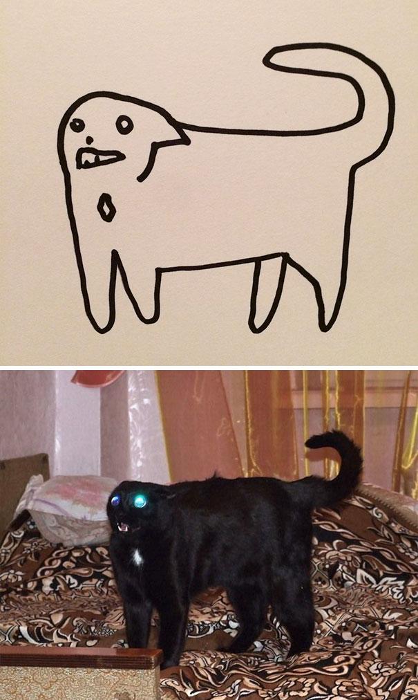 Desenhos De Gatos Que Não Acreditaria Que Existiam Se Não Houvessem Fotos 5