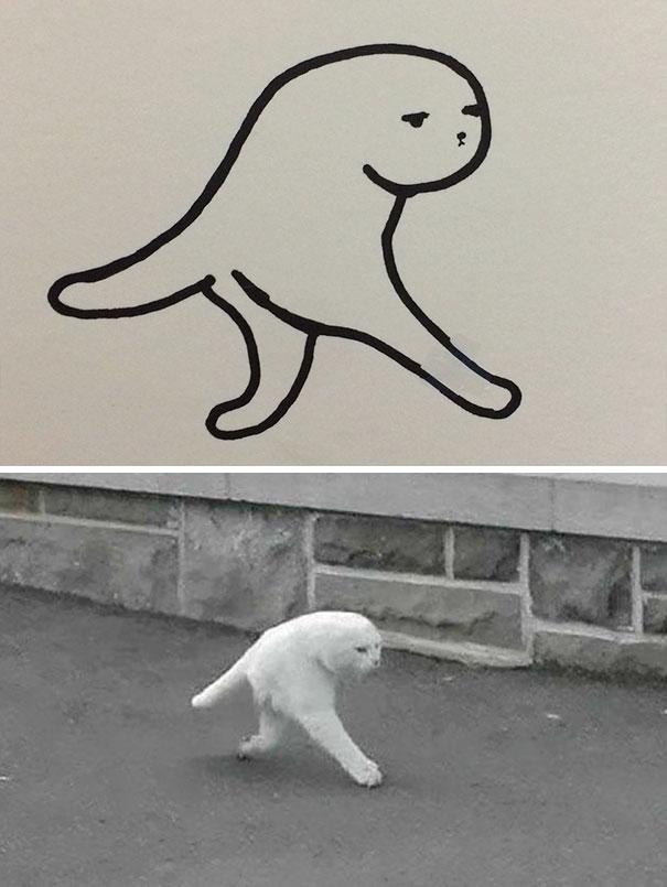 Desenhos De Gatos Que Não Acreditaria Que Existiam Se Não Houvessem Fotos 6