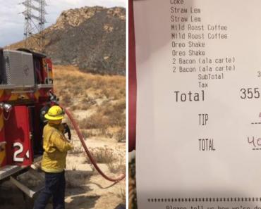 Depois De Um Incêndio, Uma Mulher Gastou 405 Dólares Para Pagar o Jantar Aos Bombeiros 4