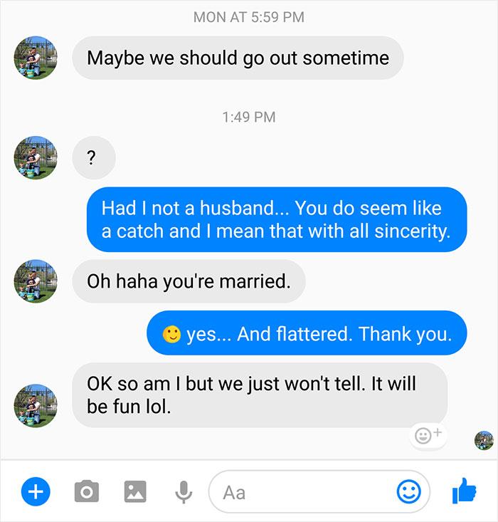 Enviou Mensagem a Mulher Casada Para Sair Com Ela. A Resposta Dela Viralizou, e Pelos Melhores Motivos 1