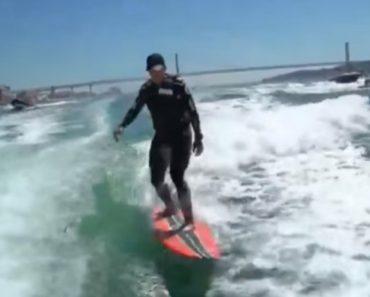 Garrett McNamara Surfa No Tejo Onda Com Mais De Três Quilómetros e Bate Novo Recorde 2
