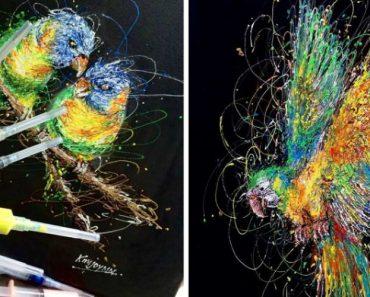 Injeção De Arte: Enfermeira Faz Pinturas Incríveis Usando Seringas 6