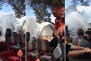 Bombeiros Encontram Forma Criativa De Extinguir Incêndio Numa Casa Durante Uma Inundação 10