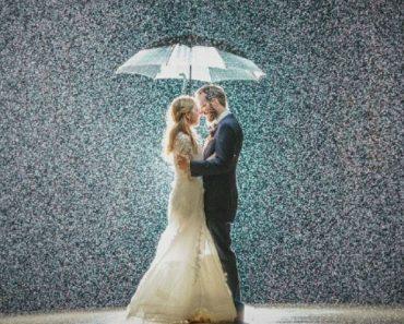 Casais Mostram Como a Chuva No Dia Do Casamento Proporciona Incríveis Fotos 8