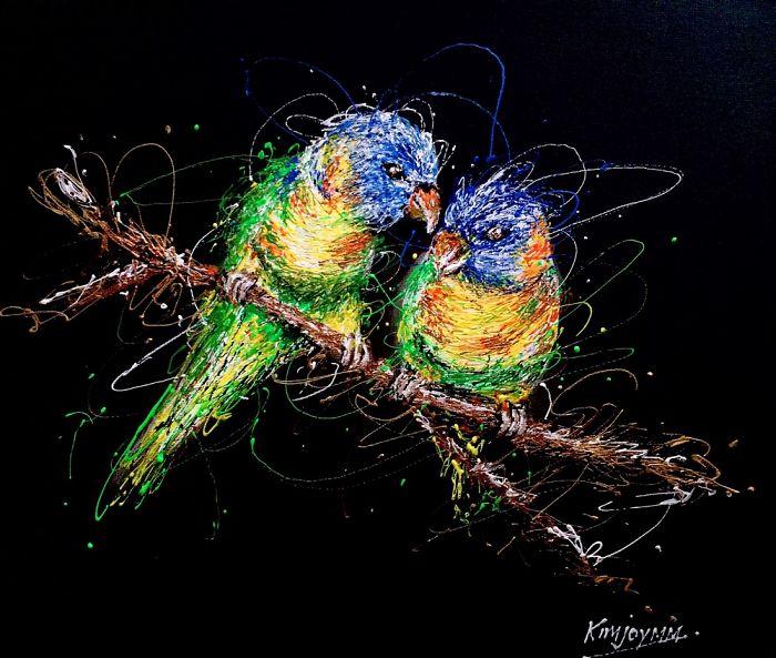 Injeção De Arte: Enfermeira Faz Pinturas Incríveis Usando Seringas 1