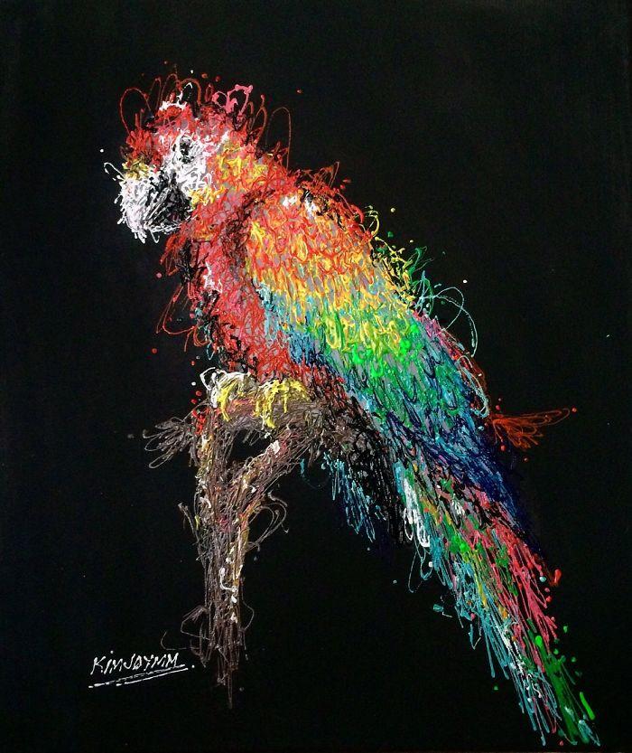 Injeção De Arte: Enfermeira Faz Pinturas Incríveis Usando Seringas 7