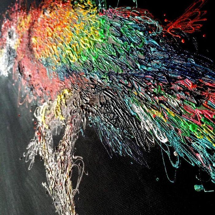Injeção De Arte: Enfermeira Faz Pinturas Incríveis Usando Seringas 8