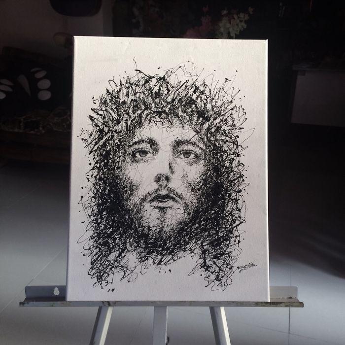 Injeção De Arte: Enfermeira Faz Pinturas Incríveis Usando Seringas 9