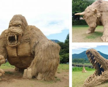 Talentosos Artistas Usam Palha Para Criarem Gigantescas Estátuas 4