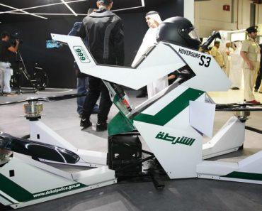 Polícia Do Dubai Revela Moto Voadora Híbrida 1