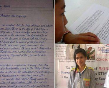 A Letra Que Levou Uma Jovem De 14 Anos a Vencer Prémio De Caligrafia 7