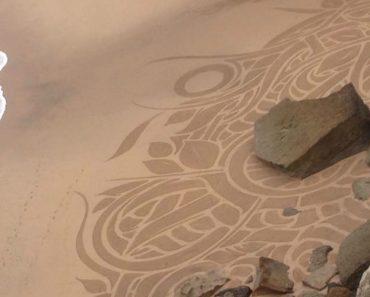 Azenhas Do Mar Em Sintra Acordou Com Desenhos Misteriosos Na Areia 1