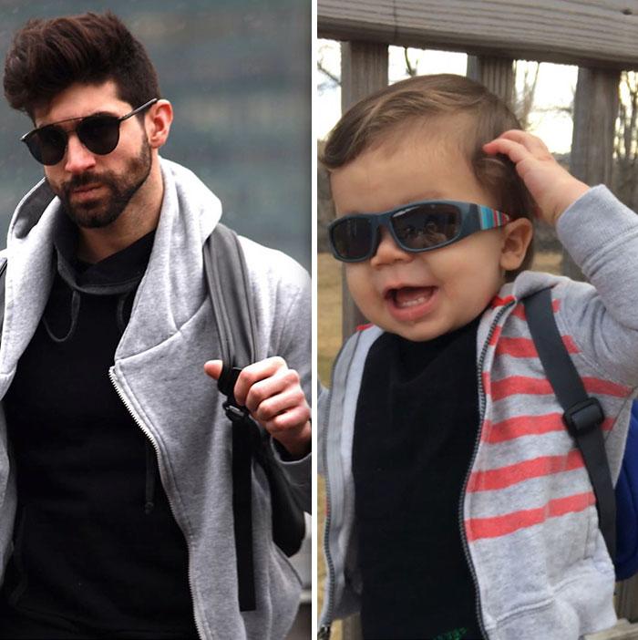 Bebé Recria Fotos Do Tio, Que é Modelo, e Derrete o Instagram 19