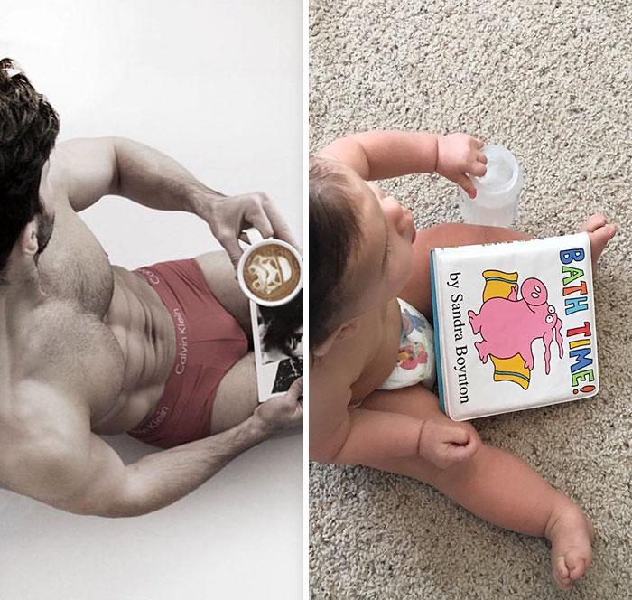 Bebé Recria Fotos Do Tio, Que é Modelo, e Derrete o Instagram 21