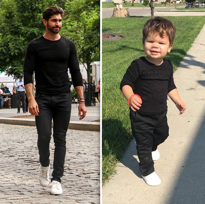 Bebé Recria Fotos Do Tio, Que é Modelo, e Derrete o Instagram 3