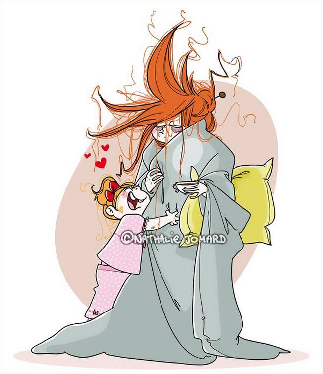 22 Ilustrações Divertidas Que Mostram o Que Realmente é Ser Mãe 7