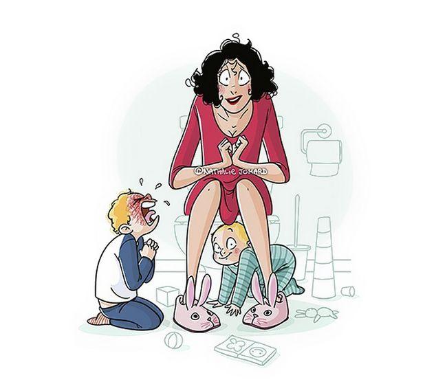 22 Ilustrações Divertidas Que Mostram o Que Realmente é Ser Mãe 8