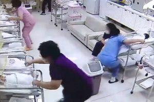 Enfermeiras Têm Resposta Imediata Numa Maternidade e Salvam Bebés Durante Um Terramoto 9