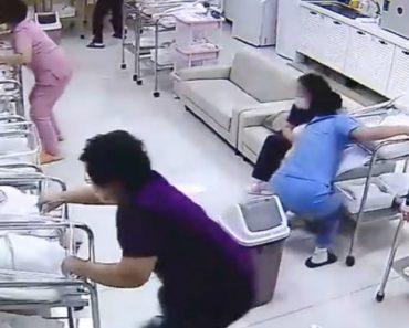 Enfermeiras Têm Resposta Imediata Numa Maternidade e Salvam Bebés Durante Um Terramoto 1