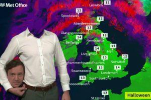 Canal Televisão Do Reino Unido Tem Forma Original De Dar As Previsões Meteorológicas Durante o Halloween 10