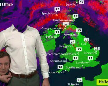 Canal Televisão Do Reino Unido Tem Forma Original De Dar As Previsões Meteorológicas Durante o Halloween 6