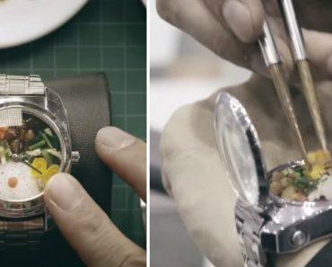 Japoneses Criam Relógio Que Permite Guardar Mini Refeição Completa 2
